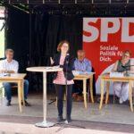 NRWSPD Generalsekretärin Nadja Lüders stellt den Programmentwurf der SPD für die Landtagswahl 2022 vor