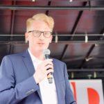 Michael Sprink bei der Vorstellung seiner Person und politischen Ideen für den NRW Landtag