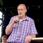 Landtagskandidat Roger Voigtländer bei der Vorstellung seiner Person und Ideen